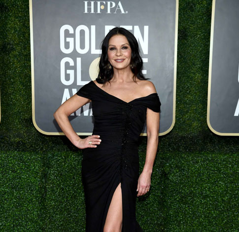 Actors Catherine Zeta-Jones, Kyra Sedgwick & Anthony Anderson wear Chopard Creations to the 78th Annual Golden Globe Awards - Virtual Event